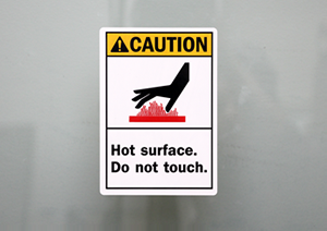 Hot Surface Labels Durable Do Not Touch