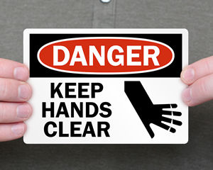 All Keep Hands Clear Labels