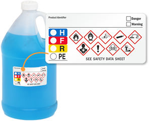 Write-On GHS and HMIG Combo Label