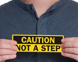 Ladder Safety Labels | Ladder Warning Labels