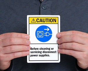 Machinery Service Labels