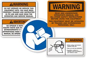 Read Manual Labels & Signs