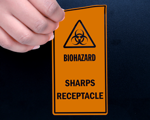 Sharps Warning Labels & Signs
