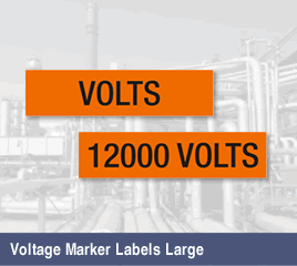 Voltage Marker Labels, Large