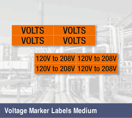 Voltage Marker Labels, Medium