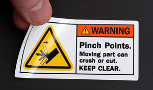 Warning Pinch Points Labels