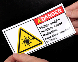 Laser Warning Labels