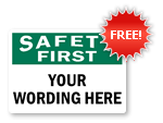 Free Safety First Label