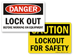 Lockout Safety Labels