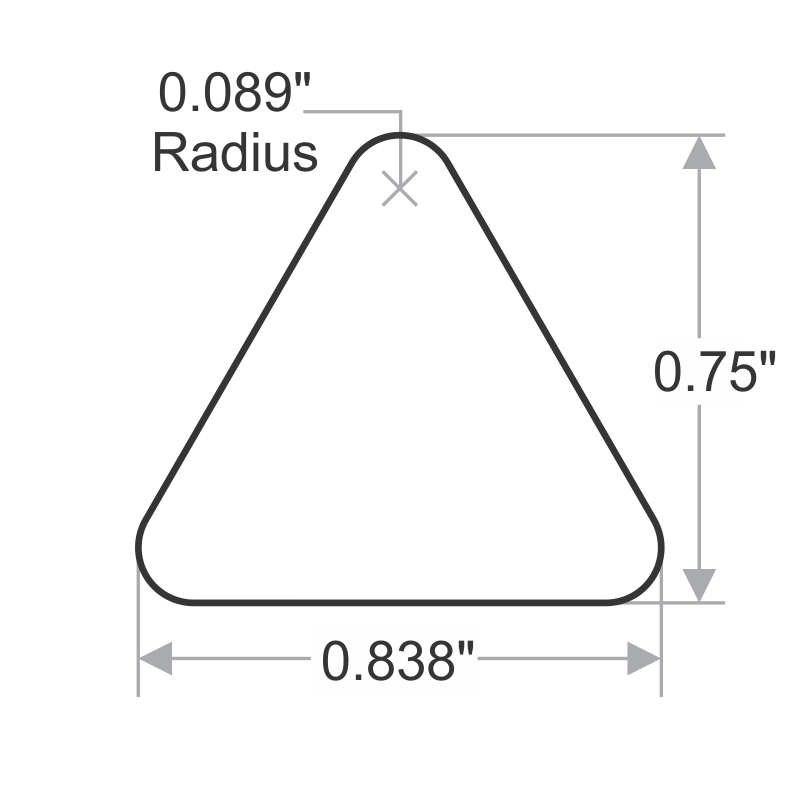 Radioactive Material Triangle Symbol Label Sku Lb 0449