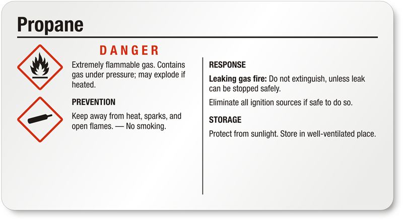 Propane Gas Labels Hazcom