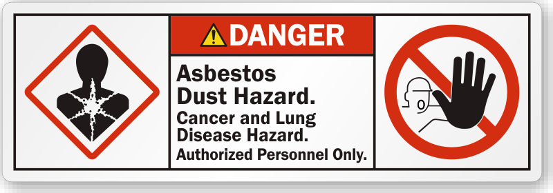 Asbestos Warning Labels Remind Workers To Wear Ppe