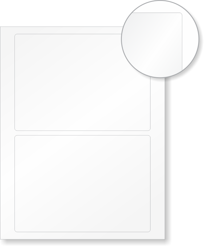 blank laser printable label sheets  5in  x 7in  labels