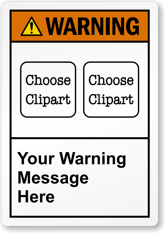 custom warning labels designs with picto qr code or text only