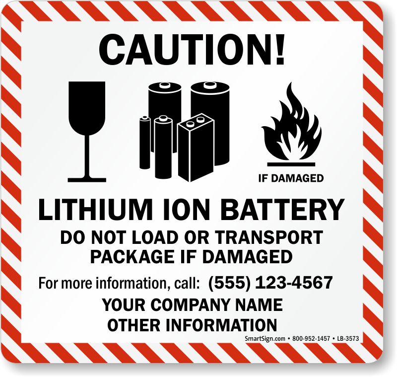 lithium battery handling mark shipping labels