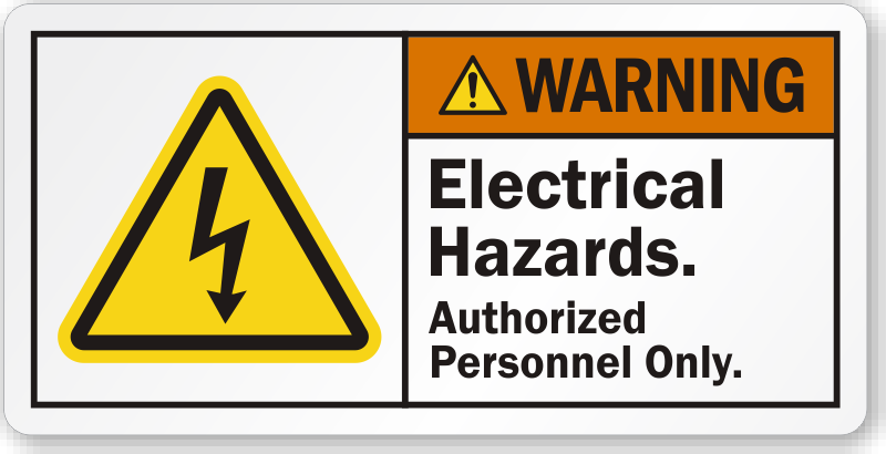 Electrical Hazard Labels Electrical Warning Labels