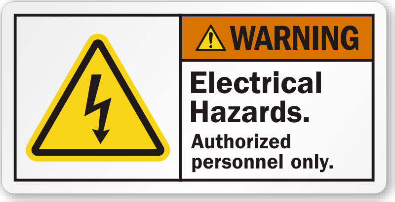 Electrical Hazard Labels Hazard Warning Labels