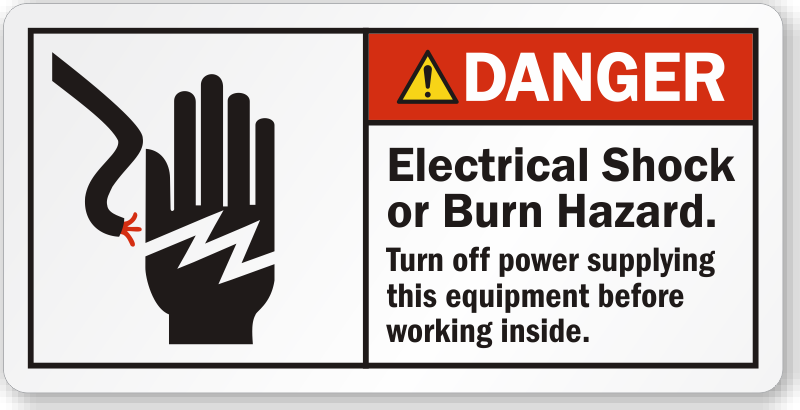 Electrical Equipment Safety Labels