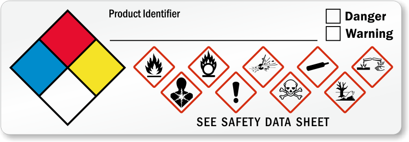 ghs hazard and nfpa combo label sku lb 2950