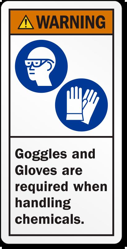 """Résultat de recherche d'images pour """"wear gloves and goggles"""""""