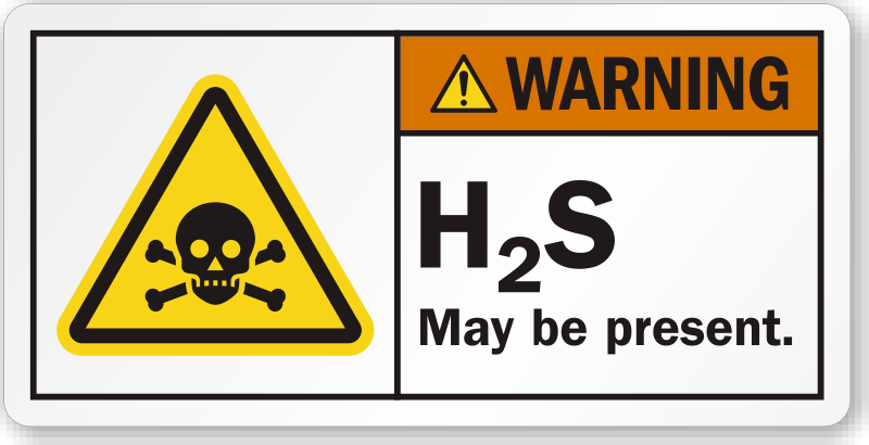 h2s may be present poison symbol label sku lb 2328