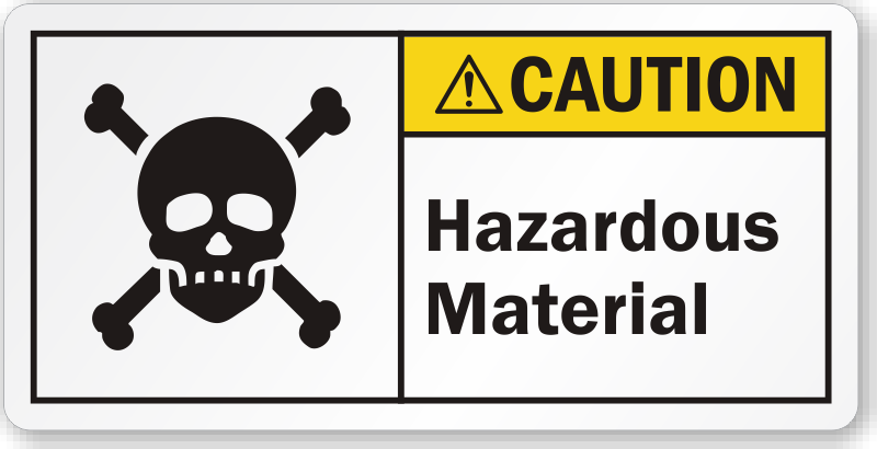 Hazardous Material Ansi Caution Label Highly Durable Sku Lb 2315