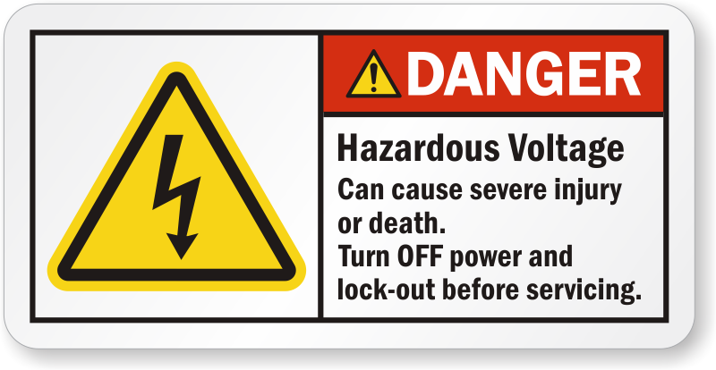 High Voltage Labels ⚡ | Danger Volts Stickers
