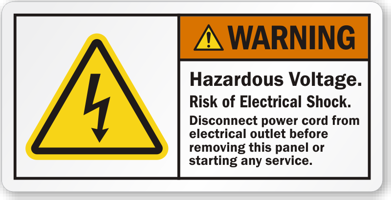 Electrical Panel Warning Labels Danger Area In Front Of