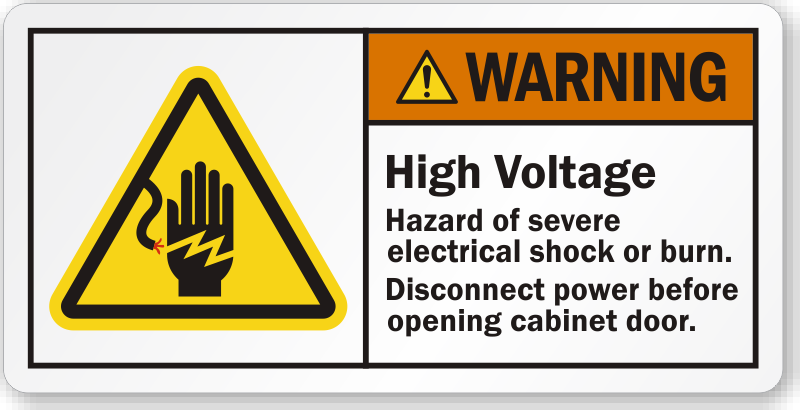 Black Label Price >> High Voltage Hazard Of Severe Electrical Shock Or Burn ...