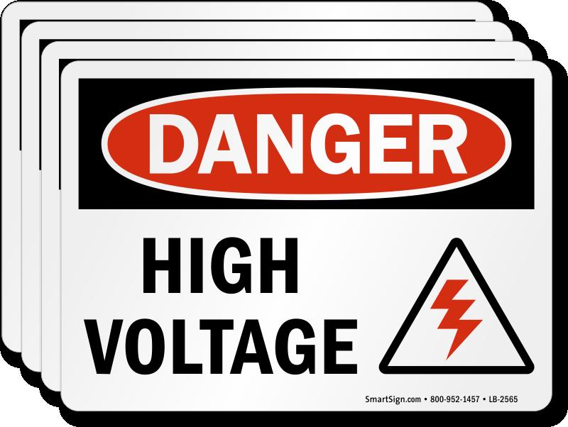 High Voltage Labels ⚡ | Danger Volts Stickers