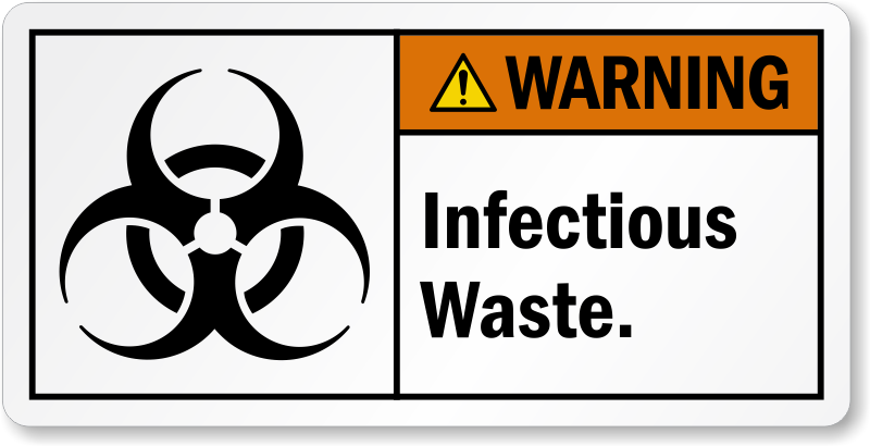 Warning Infectious Waste Label Sku Lb 2247