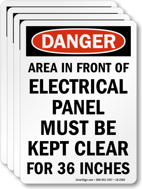 Electrical Panel Labels | Electrical Panel Keep Clear Labels on