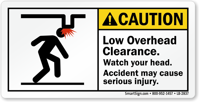 Buy Low Overhead Clearance Watch Your Head Label Online