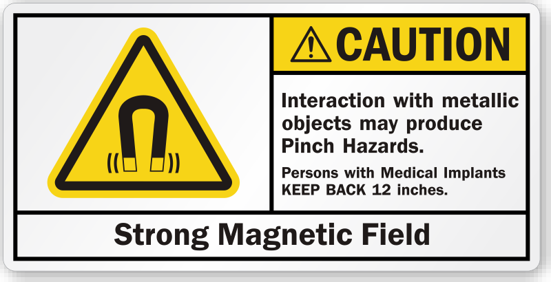 Caution Machine Safety Labels
