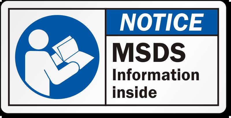 Sds Labels Preprinted And Custom Msds