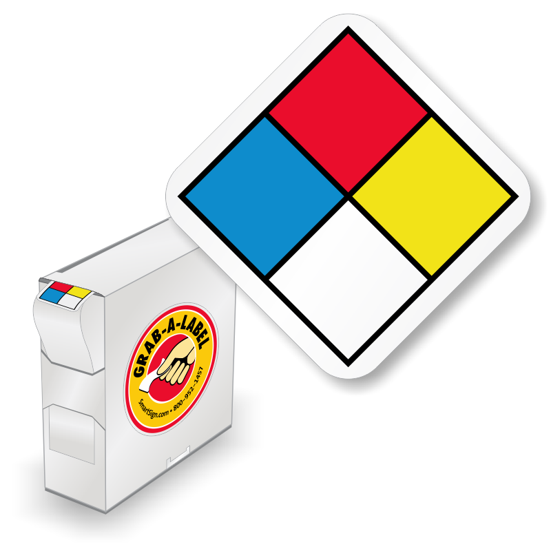 Hazardous Material Diamond: NFPA Labels, Stickers, Tags, Placards And Signs