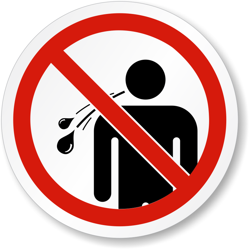 No Spitting Symbol Iso Prohibition Safety Label Sku Lb