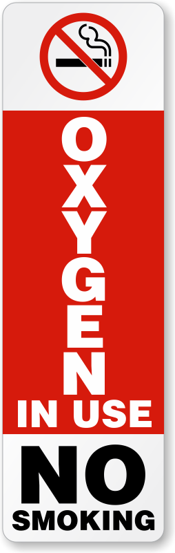 Current image pertaining to oxygen in use sign printable