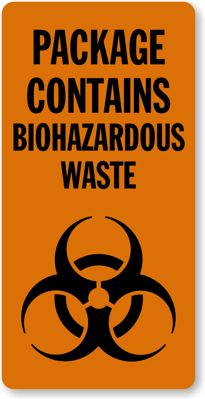 Infectious Waste Area Stickers Infectious Waste Signs