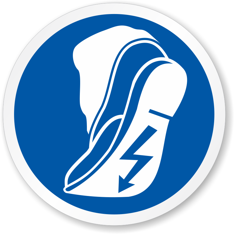 Use Anti Static Footwear Symbol Iso Mandatory Action
