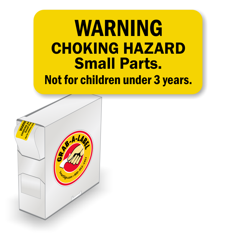 Choking Hazard Not For Children Under 3 Years Labels In