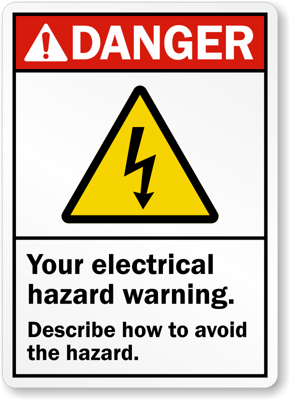 Electrical Safety Labels Electrical Warning Stickers