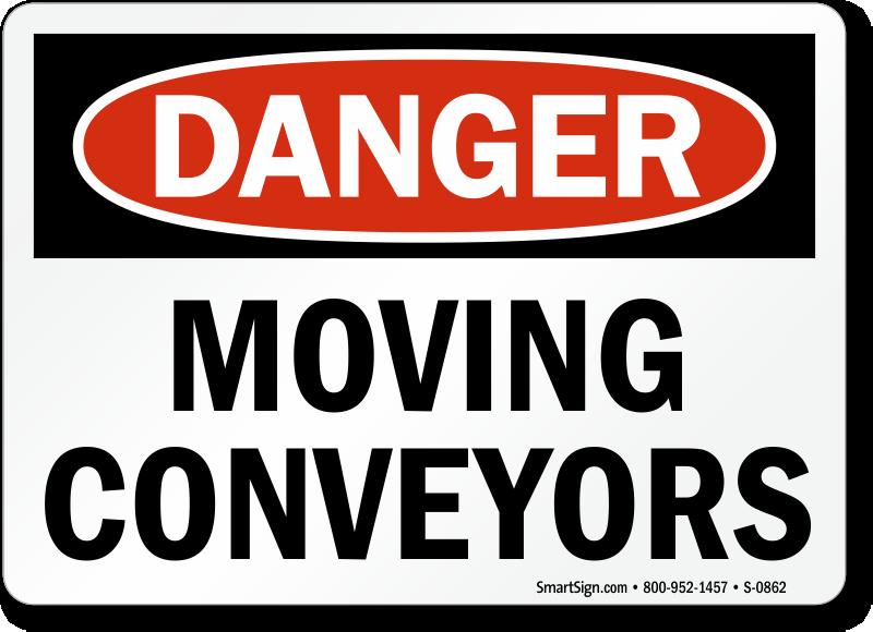 Conveyor Warning Safety Labels