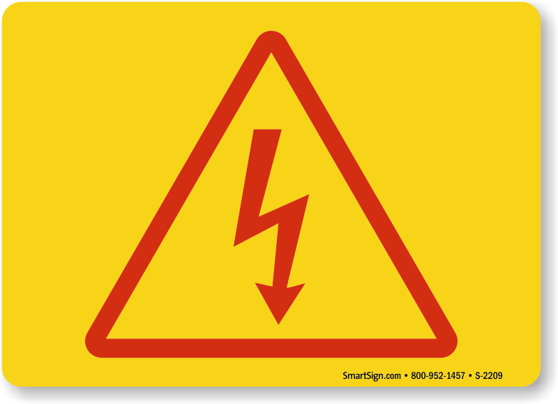 High Voltage Symbols Electrocution And Electric Shock