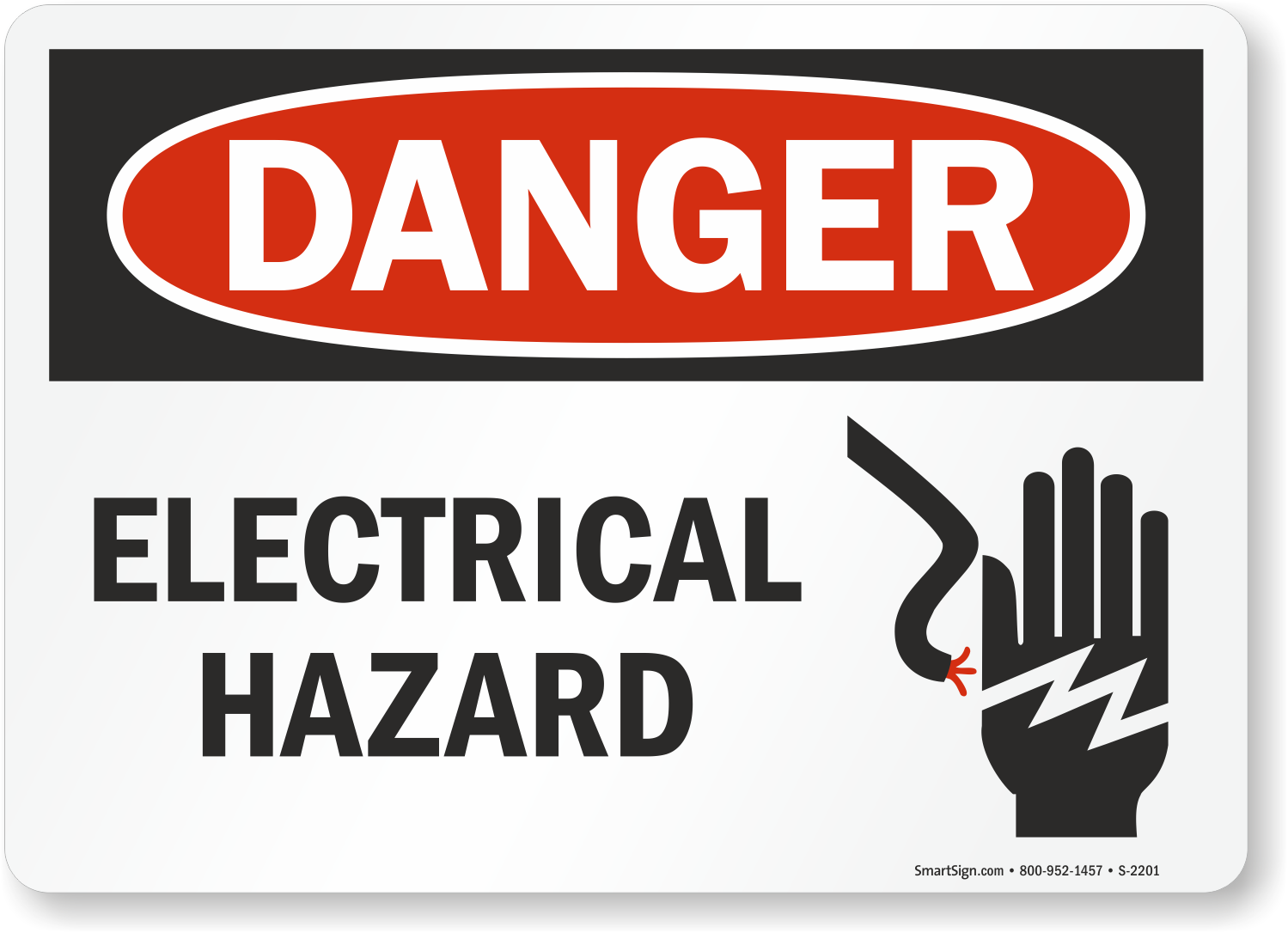 Electrical Safety Signs : Electrical hazard labels warning