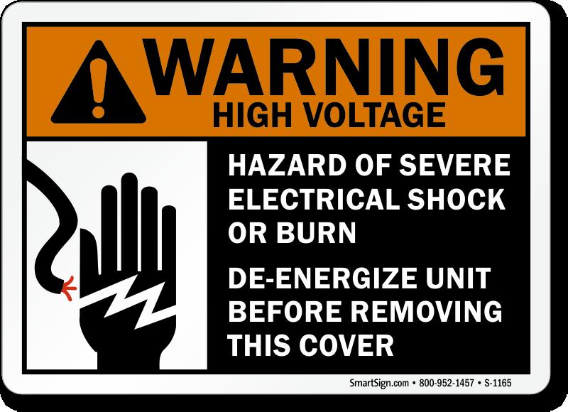 Download Free PDF-Warning High Voltage Hazard Of Severe
