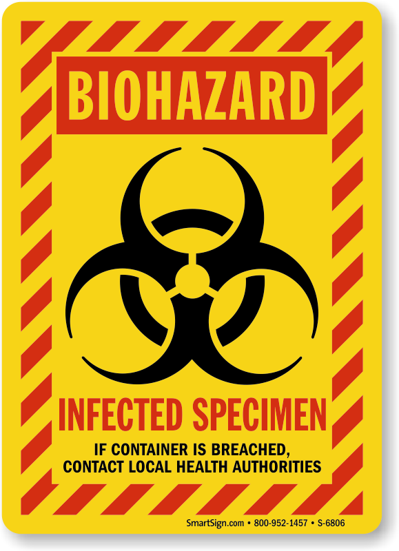 Infectious Waste Area Stickers| Infectious Waste Signs