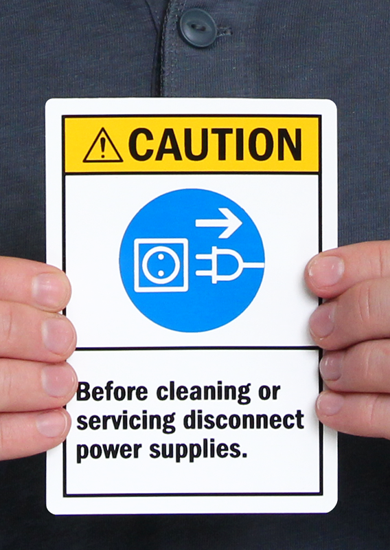 Caution Before Cleaning Servicing Disconnect Power Label