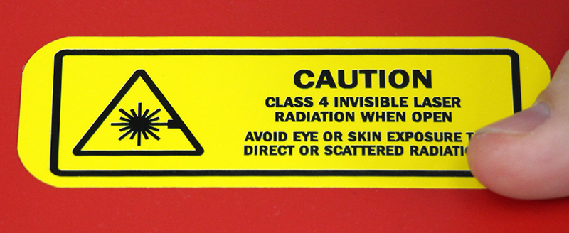 Class 4 Invisible Laser Radiation Avoid Exposure Label