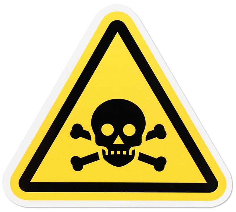 Iso W016 Toxicpoison Symbol Label Triangle Sku Lb 0443
